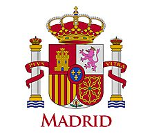 Madrid Shield of Spain Photographic Print
