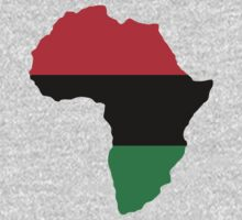 Red, Black & Green Africa Flag Kids Clothes