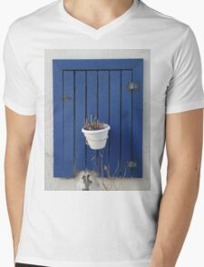 blue window Mens V-Neck T-Shirt