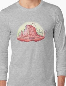 Roller Coaster Mountain Long Sleeve T-Shirt
