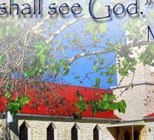 Matthew 5:8 Sticker