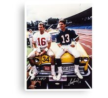 Dan Marino Joe Montana Canvas Print