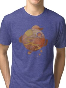 Abstract Autumn Orbits Tri-blend T-Shirt