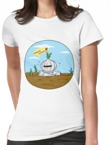 How to grow an onion knight Womens Fitted T-Shirt