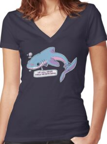 We Will Never Watch the Same Shows Women's Fitted V-Neck T-Shirt