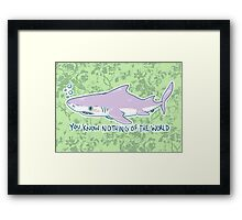 You Know Nothing of the World Framed Print