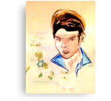 Textile Portrait - Fashion Illustration Canvas Print