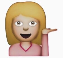 Blonde Hair Toss Emoji  by Chloe Hebert