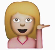 Blonde Hair Toss Emoji  by Chloe Hebert
