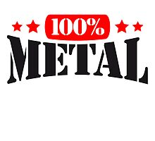 100% Metal Text Design by Style-O-Mat