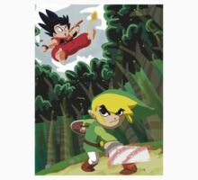 Link vs Goku by Bruce Gordon