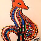 Patchwork Zentangle Fox by jonkania