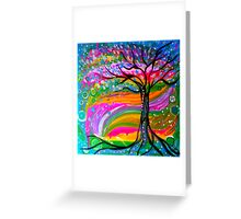 Tree of Psychedelic Bliss Greeting Card