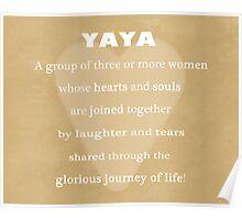 YaYa Typography Print Poster