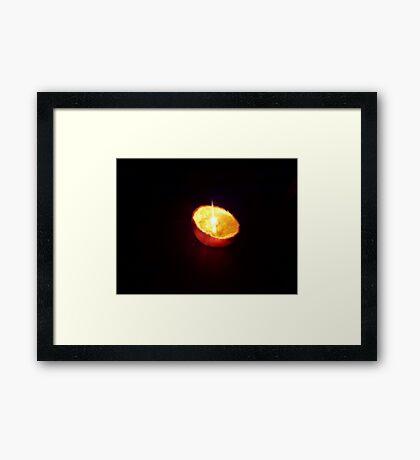 Orange Candle Framed Print