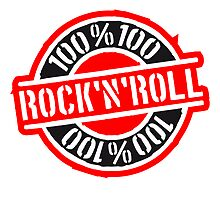 100% Rock'N'Roll Stempel Design by Style-O-Mat