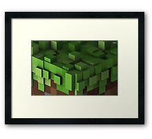 Grass Block - Minecraft Framed Print