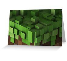 Grass Block - Minecraft Greeting Card