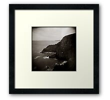{ sea vs land } Framed Print