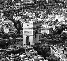 Arc de Triomphe and the Surrounding Maze by SDcaptured