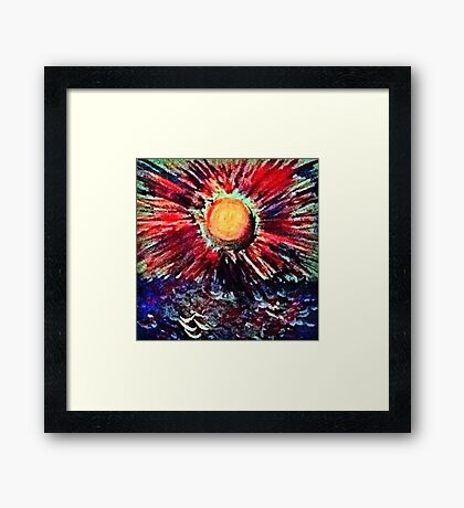 Sun On Water Framed Print