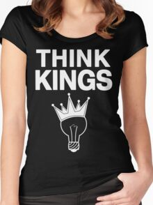 Think Kings standard tee invert Women's Fitted Scoop T-Shirt