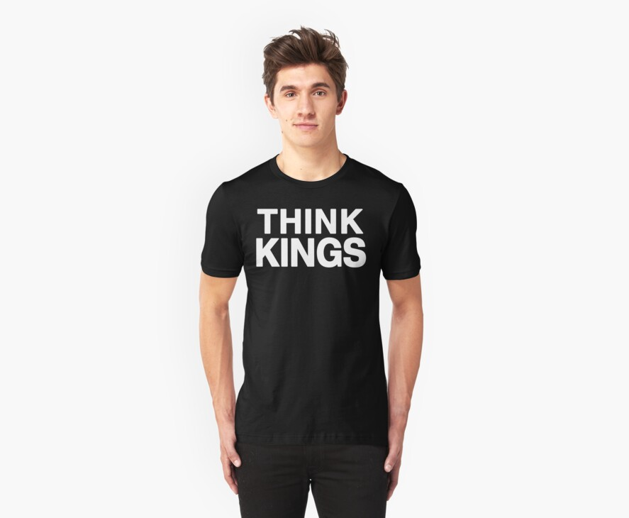 Think Kings minimal tee invert by geniuscondition