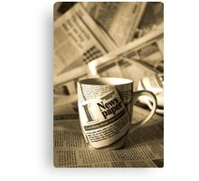 Newspaper Mug Canvas Print