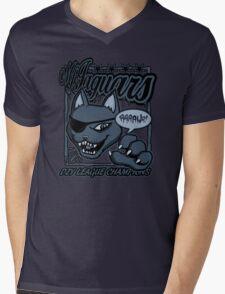 M.F Jaguars Blue Mens V-Neck T-Shirt