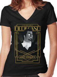 Hildibrand   FFXIV Women's Fitted V-Neck T-Shirt