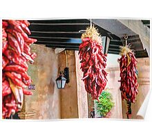 Red Chilies Hanging in Sedona Poster
