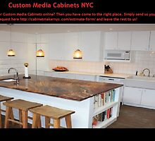 Custom Media Cabinets NYC by cabinetmakern