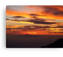 Mauna Kea Hawaii scenic sunset print Canvas Print