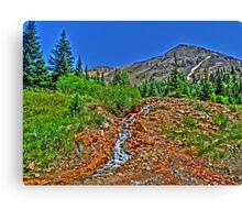 Colorado vivid scenic Cinnamon Gulch Trail print Canvas Print
