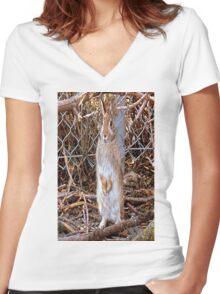 Honey Bunny Women's Fitted V-Neck T-Shirt