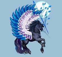Blue Winged Pegasus Womens Fitted T-Shirt