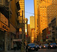 Sutter Street Downtown by David Denny