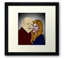 Beauty and her Beast Framed Print
