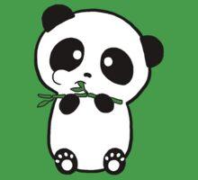Panda Eating Bamboo by VillageGirl