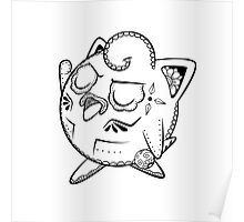 Jigglypuff de los Muertos   Pokemon & Day of The Dead Mashup Poster