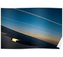 Air traffic lanes Poster