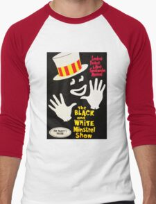 Black and White Minstrel show Men's Baseball ¾ T-Shirt