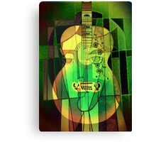 5161 Guitar with Face Canvas Print