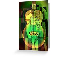 5161 Guitar with Face Greeting Card