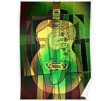 5161 Guitar with Face Poster