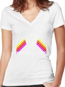 Kingdomcast Future World Logo Women's Fitted V-Neck T-Shirt