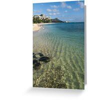 Waikiki Beach Sea and Sunshine Greeting Card