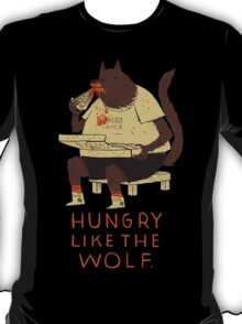 hungry like the wolf(black) T-Shirt