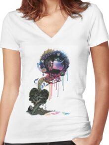Treehuggers Women's Fitted V-Neck T-Shirt