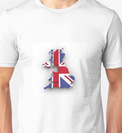 United kingdom Flag Map Unisex T-Shirt